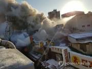 의정부 제일시장 화재, 인명피해 없이 불길 잡혀…점포 11개 태워