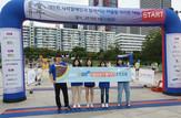bhc치킨 '해바라기 봉사단', 시각장애인 마라톤 대회 자원봉사 나서