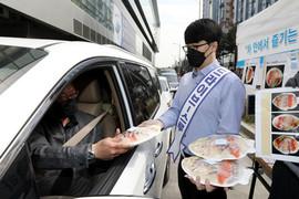 수협, 노량진수산시장·강서공판장서 수산물 드라이브 스루 판매