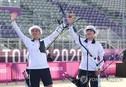 도쿄 올림픽 첫 '금메달' 양궁 혼성경기 결승 시청률 17%